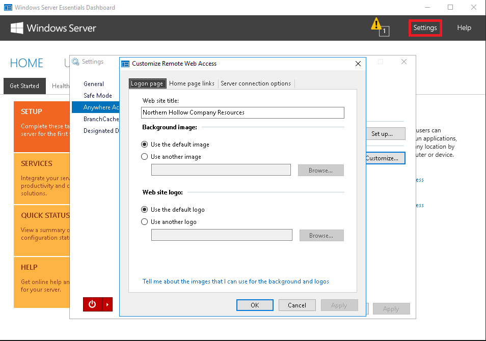 Migrating Sbs Remote Web Access To Essentials Anywhere